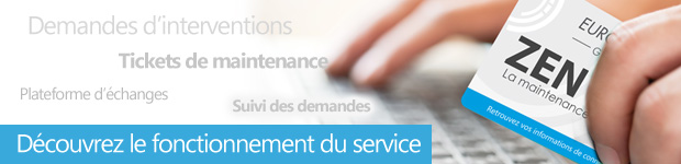 Zen Service Fonctionnement d'un demande d'intervention